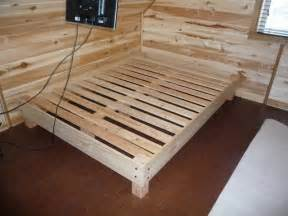 Build A Wood Platform Bed Frame by Mcewen39s Mcblog 2 215 4 Bed Frame 2 215 4 Bed Frame Furniture Definition Pictures