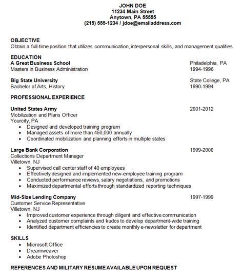 Example Of Resume by Examples Of Resume Best Template Collection