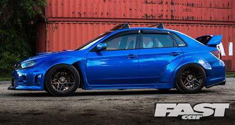 widebody subaru impreza hatchback widebody subaru impreza wrx sti fast car