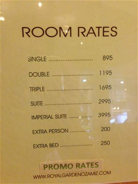 Room Rate Current Room Rates Picture Of Royal Garden Hotel Ozamiz