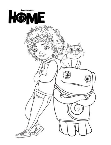 free coloring pages of dreamworks home oh