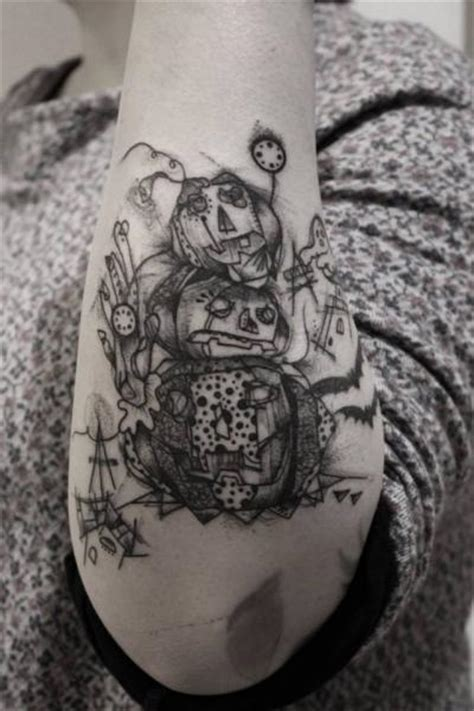 arm dotwork puppet tattoo by black ink power