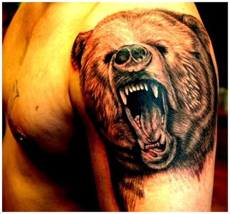 tribal bear tattoo meaning tribal grizzly meaning design idea for