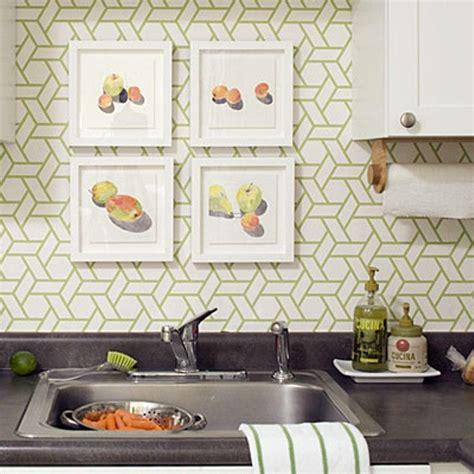 Modern Kitchen Wallpaper by 15 Modern Kitchen Designs With Geometric Wallpapers Rilane