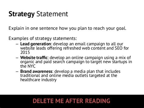 strategy statement template 2015 marketing strategy planning template