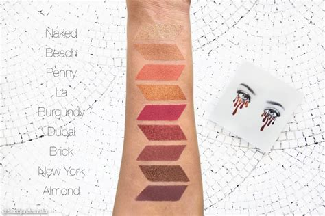 Cosmetics Burgundy Palette review and swatch cosmetics kyshadow burgundy palette