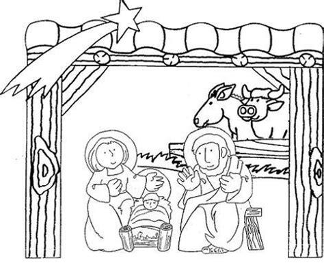 dibujos navideños para colorear portal belen dibujos del portal de bel 233 n para colorear