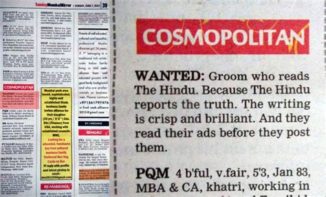 Trolled! A fan of The Hindu posts matrimonial ad in Mumbai ...