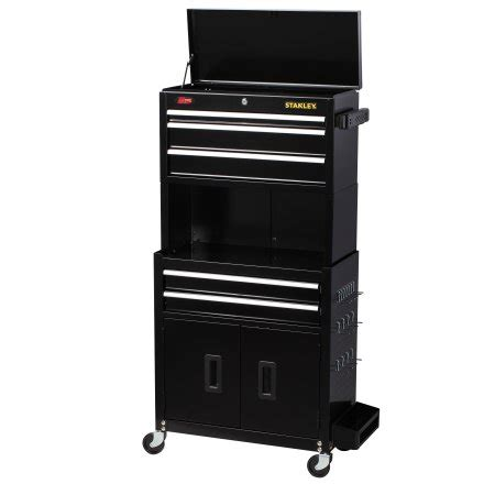 stanley 24 in w 5 drawer tool cabinet stanley 24 inch 5 drawer tool chest and cabinet walmart com