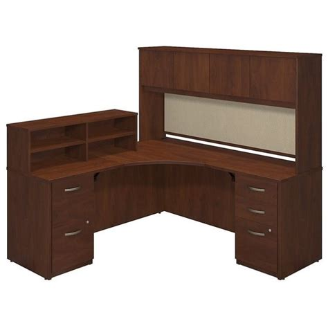 Corner Desk Cherry Bush Business Series C Elite 42w X 42d L Corner Desk In Hansen Cherry Sre223hcsu