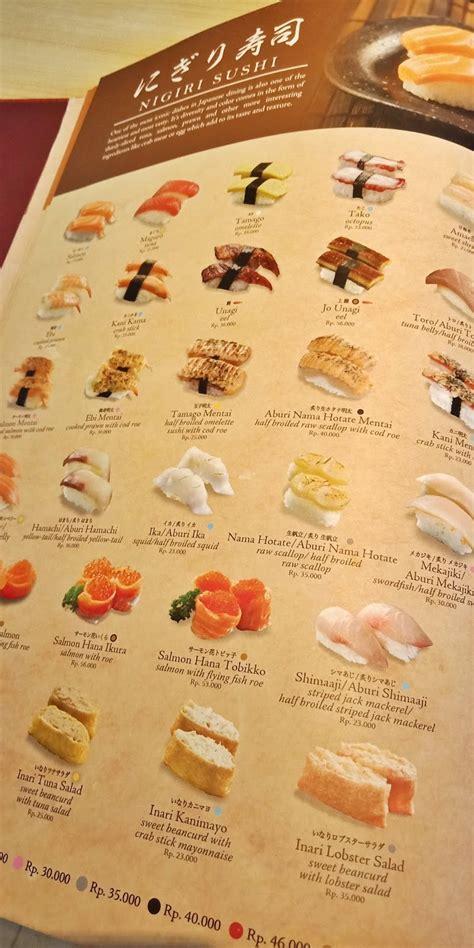 menu makanan  sushi tei