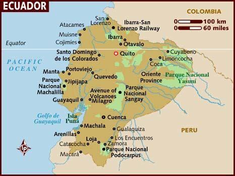 Search Ecuador Map Of Ecuador