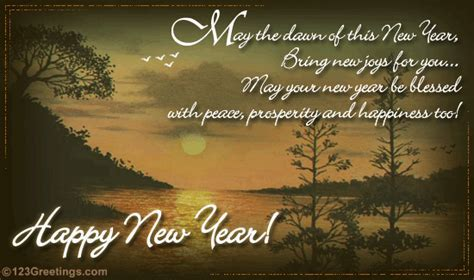 New Year Prosperity And Happiness  Free Inspirational