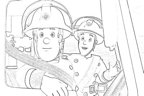 Fireman Sam Coloring Pages To Download And Print For Free Colouring Pages Fireman Sam