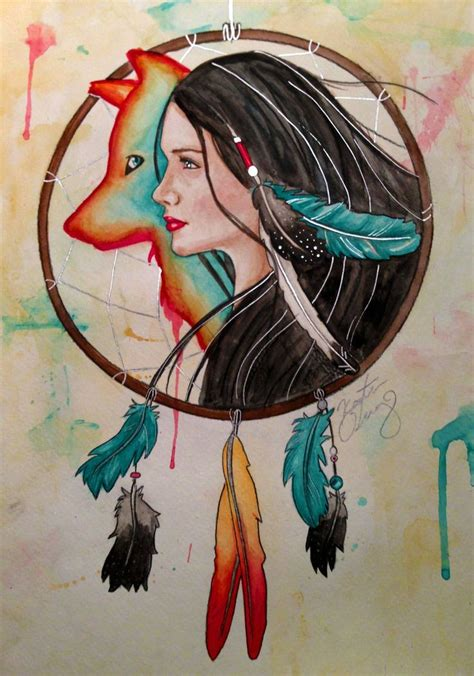spirit guide watercolor instagram kdarby3 deviantart