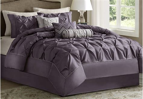 janelle plum 7 pc queen comforter set queen linens red