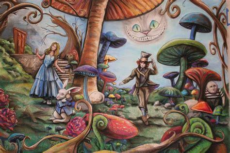 alice in wonderland mural alice in wonderland decor ideas pinter alice in wonderland mural that i helped draw finished