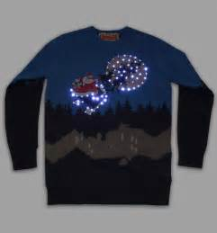 unisex retro led lightup sleigh ride christmas jumper from