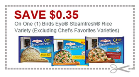 for eyes printable coupons birds eye steamfresh rice blends only 30 cents at shaw s