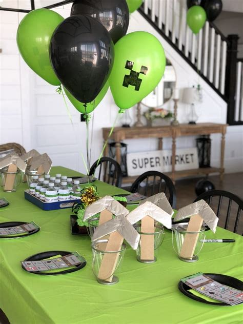 minecraft birthday party   printables honeybear lane
