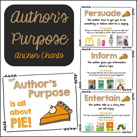 how to entertain author s purpose charts mrs gilchrist s class