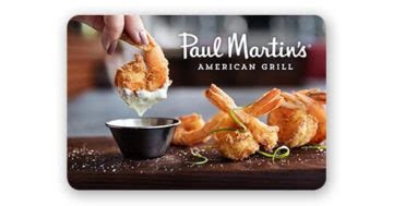 Austin Grill Gift Card Balance - gift cards paul martin s american grill
