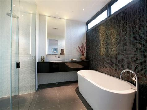 feature wall bathroom ideas glass in a bathroom design from an australian home
