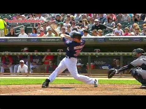 pro baseball swing slow motion justin morneau home run baseball swing slow motion hitting