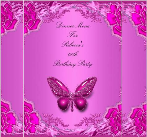 butterfly birthday card template birthday menu templates 19 free psd eps indesign