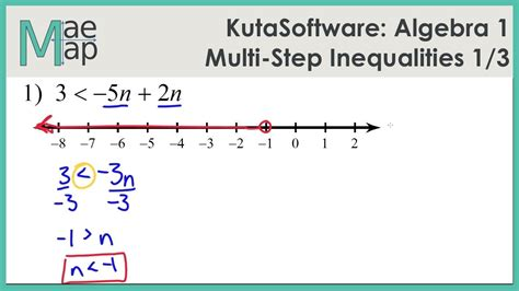 Multi Step Inequalities Worksheet