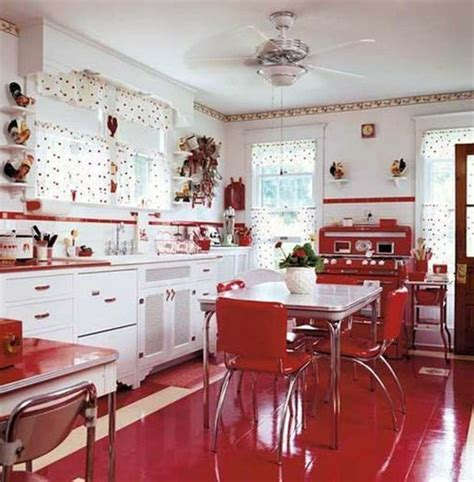 red and white kitchens ideas 25 inspiring retro kitchen designs house design and decor