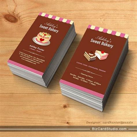 chocolate business card templates business card templates studio sweet bakery shop custom