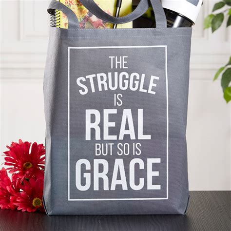 the struggle is reel books the struggle is real tote bag 12 pk