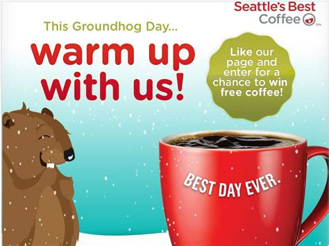 groundhog day weather report seattle s best coffee groundhog day forecast sweepstakes