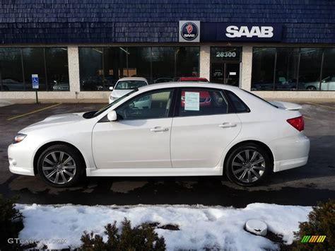 subaru sedan white 2010 satin white pearl subaru impreza wrx sedan 25063219