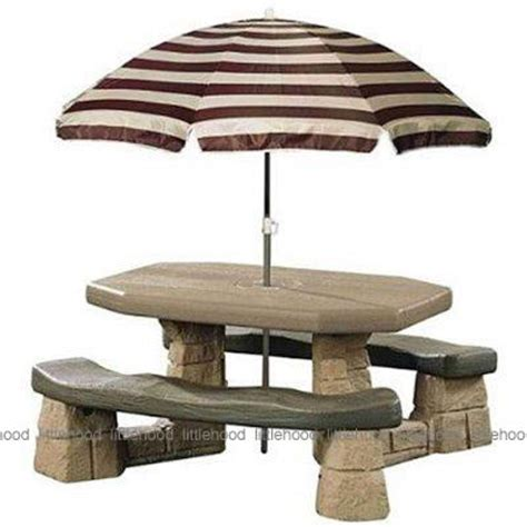 Step 2 Table by Step2 Naturally Playful Picnic Table With Umbrella