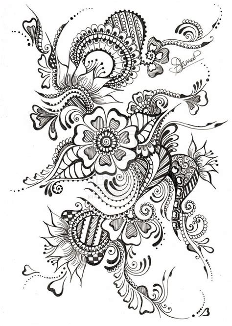 zentangle pattern tribe desenhos floral tribal tattoo maori zentangle