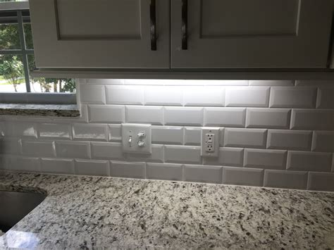 beveled subway tile backsplash 3 215 6 beveled edge subway tile backsplash odessa florida