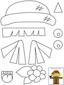 free printable scarecrow template free scarecrow template coloring pages