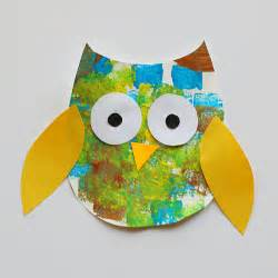 owl templates for craft sponge painted owl craft for with owl template