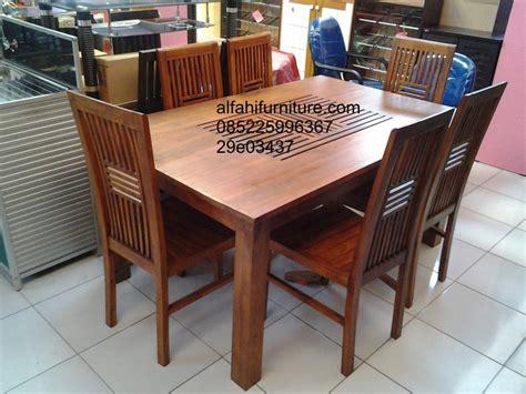 Meja Makan Free Ongkir 9 jual set meja makan minimalis jari jari harga murah jepara oleh alfahi furniture