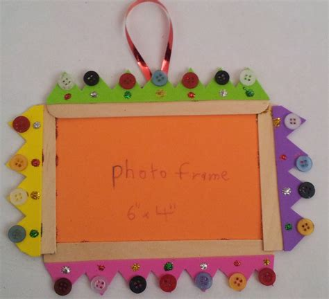 frame craft button crafts between my littles and me