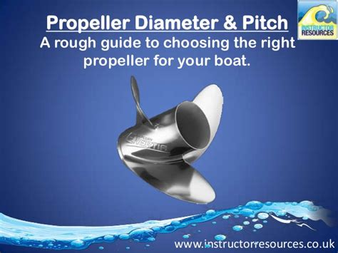 boat propeller pitch and diameter propeller diameter pitch choosing the right prop for