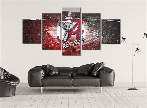 Alabama Crimson Tide Home Decor Alabama Crimson Tide Canvas Wall Art Modern Home Decor