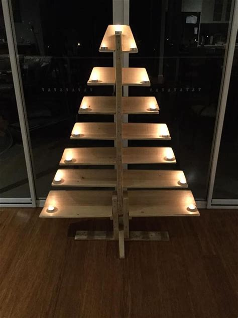 christmas tree pallet pattern diy pallet tree with tea lights pallet furniture