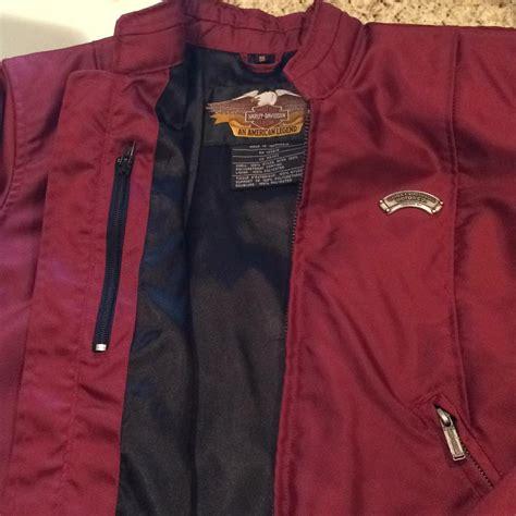 fall motorcycle jacket harley davidson burgundy wine rn 103819 ca 03402