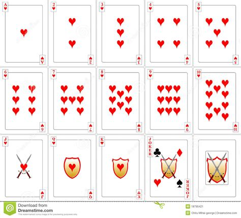 card sts cards set hearts stock image image 18795421