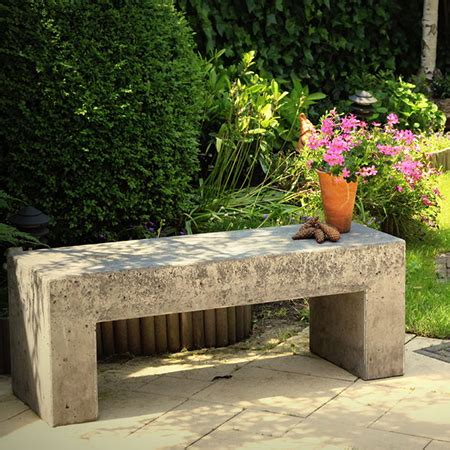 make concrete bench home dzine garden concrete or wood garden bench ideas