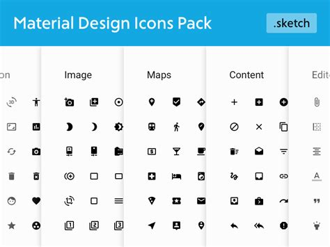 material design icon notification material design icons pack freebie download sketch
