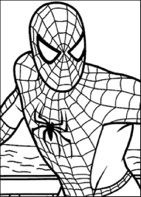 coloring pictures of spiderman pictures gallery show